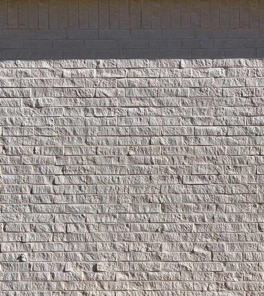 Bilco Stonehenge Split Face Brick with angled sun and shadow